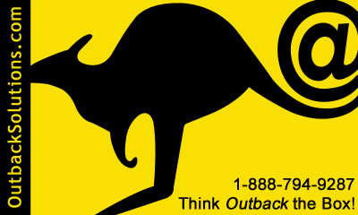 Call Outback Solutions web design internet services